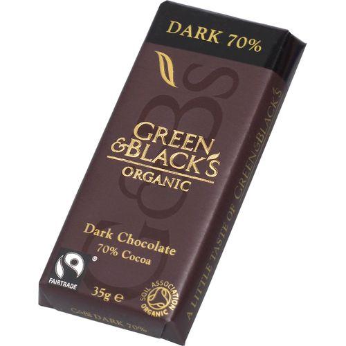 green and black choklad