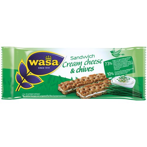 Sandwich Cream Cheese/Gräslök 37g Wasabröd