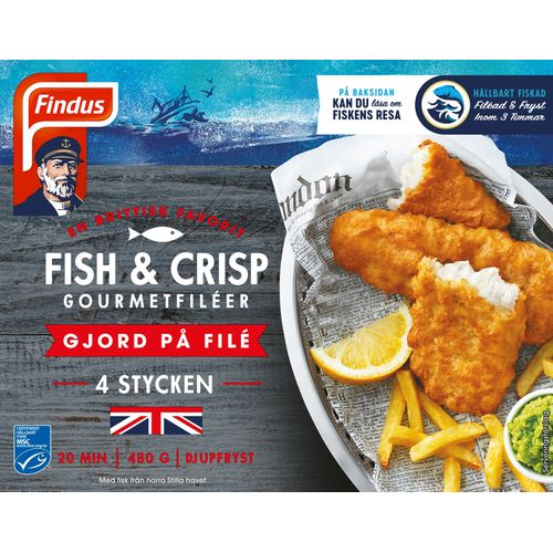 Fish&Crisp 480g Findus