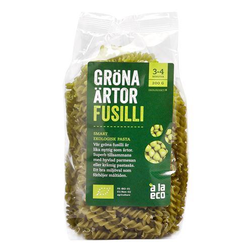 gröna ärtor fusilli
