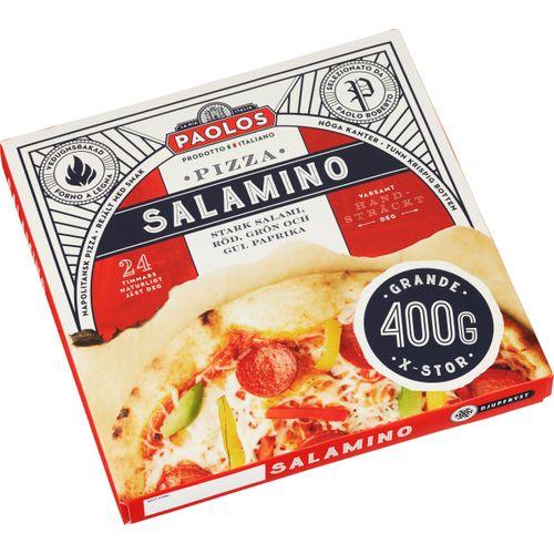 Salami på pizza gravid
