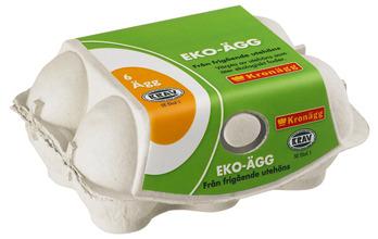 Ägg 318g Ekologiska 6-pack Kronägg