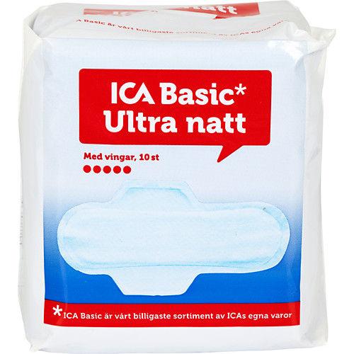 Binda Ultra Natt Vingar 10st Ica Basic
