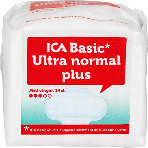 Binda Ultra Normal Plus Vingar 14st Ica Basic