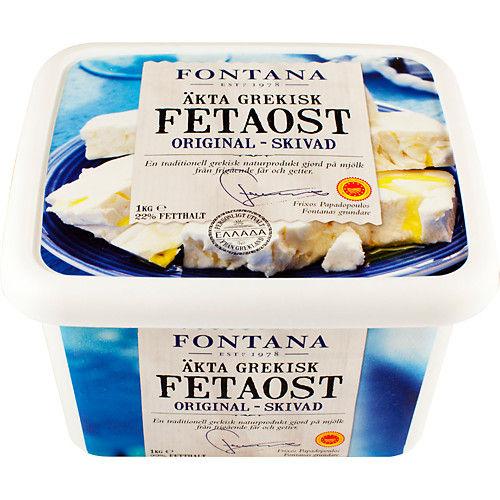Fetaost Skivad 1kg Fontana