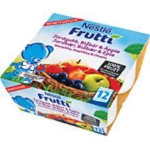 Frutti Jordgubb Blåbär Äpple  1År 4x100g Nestle