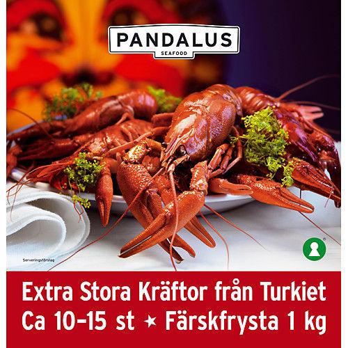 Fryst Jumbokräftor 10-15st 1kg Pandalus