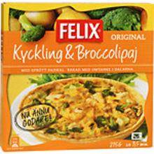 Fryst Kyckling & Broccoli fullkornspaj 215g Felix