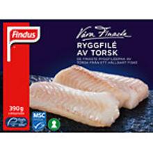 Fryst Torsk ryggfilé MSC 390g Findus