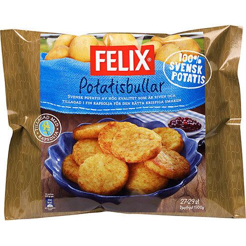 Frysta Potatisbullar 1500g Felix