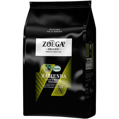 Kaffe Hela bönor Hazienda Rättvisemärkt/Ekologisk 500g Zoega