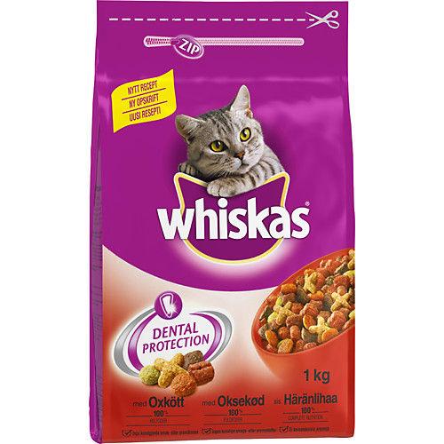 Kattmat Torr oxkött & morötter 1kg Whiskas