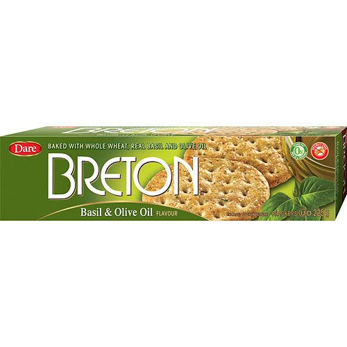 Kex Basilika/Oliv 225g Breton