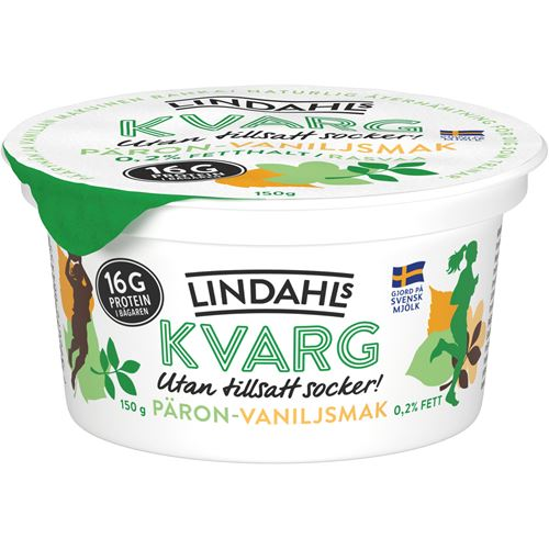 lindahls kvarg vanilj utan tillsatt socker