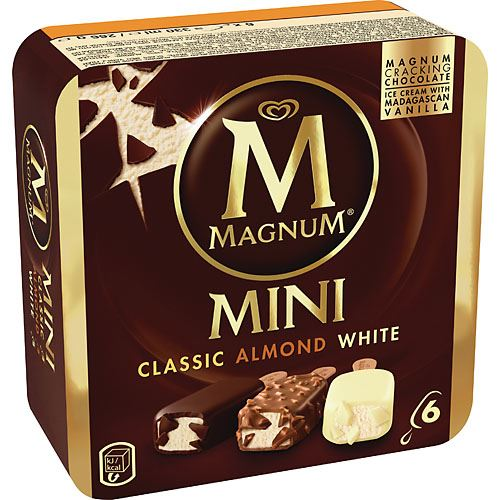 Magnum Mini Classic/Almond/White 6-p GB Glace
