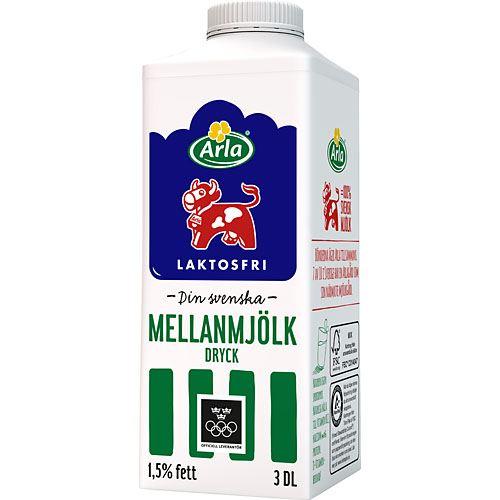 laktosfri mjölk kolhydrater