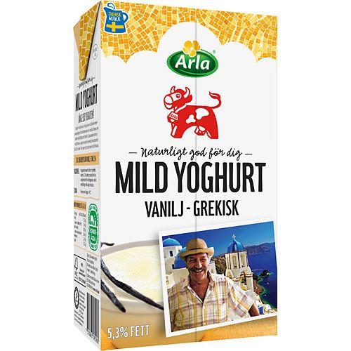 mild yoghurt vanilj