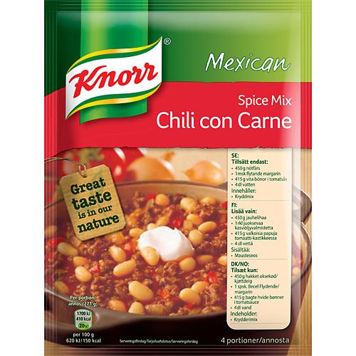 Mix Chili con Carne 4 port Knorr
