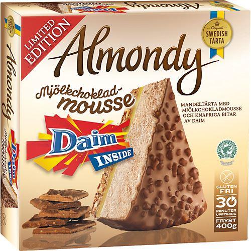 Moussetårta Daim Fryst 400g Almondy hos MatHem Almondy Daim Taart Recept