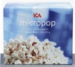 Popcorn Micro 10x100g Ica