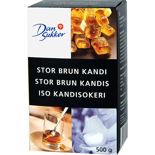 Stor Brun Kandi 500g Dansukker