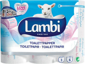 Toapapper 6-pack Säsongsmotiv Lambi