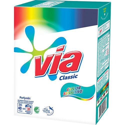 Tvättmedel Sensitive Color 1,9kg Via