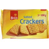 Salted Crackers 3x100g Bisca