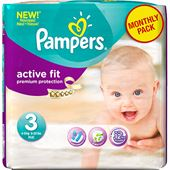 Active Fit S3 204st Pampers Månadsbox