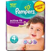 Active Fit S4 168st Pampers Månadsbox