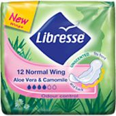 Binda Normal Aloe Vera & Camomill Wing 12st Libresse