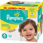 Blöjor Premium Protection (6) 15+kg 56-p Pampers