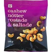 Cashewnötter rostade&saltade 110g Garant