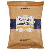 Chips Gräddfil 200g LantChips