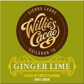 Choklad Ingefära/Lime 65% 50g Willies Cacao
