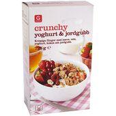 Crunchy Jordgubb/Yoghurt 725g Garant