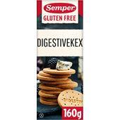 Digestivekex Glutenfria 160g Semper