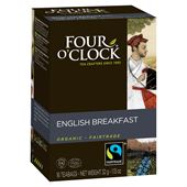 English Breakfast Te EKO Fairtrade 16-p Four O´Clock