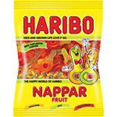 Frukt nappar påse 80g Haribo