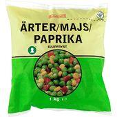 Fryst Ärter/Majs/Paprik 1kg Eldorado
