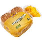 Hamburgerbröd 8-pack 448g Korvbrödsbagarn