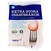 Ishavsräkor Skalade Extra Stora Frysta 300g Garant