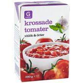 Krossade Tomater Vitlök&Örter 390g Garant