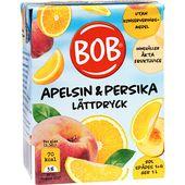 Lättdryck apelsin/persika 2dl BOB