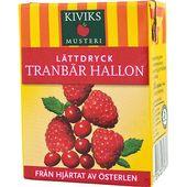 Lättdryck Tranbär/Hallon 200ml Kiviks