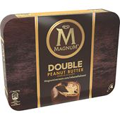 Magnum Double Peanut Butter 4-p 352ml GB Glace