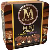 Magnum Mini Double Chocolate Double Caramel 6-p 650ml GB Glace