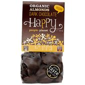 Mandlar Mörk Choklad EKO 120g Happy People Planet