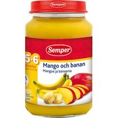 Mango och Bananpure 6M 190g Semper
