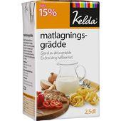 Matlagningsgrädde 15% 250ml Kelda
